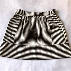 Madewell Black & off white Striped Mini Skirt